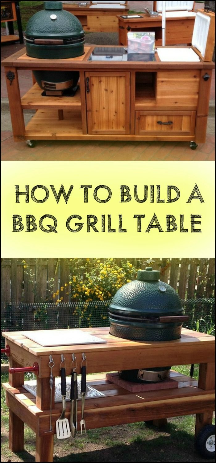 Make Barbecue Parties More Enjoyable in Your Backyard by Building a DIY Barbecue Grill Table!