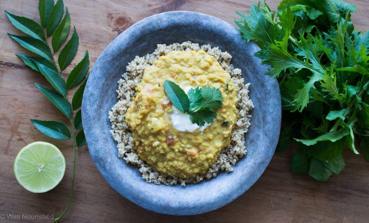 Quick and easy red lentil dhal is a very healthy, vegetarian meal.