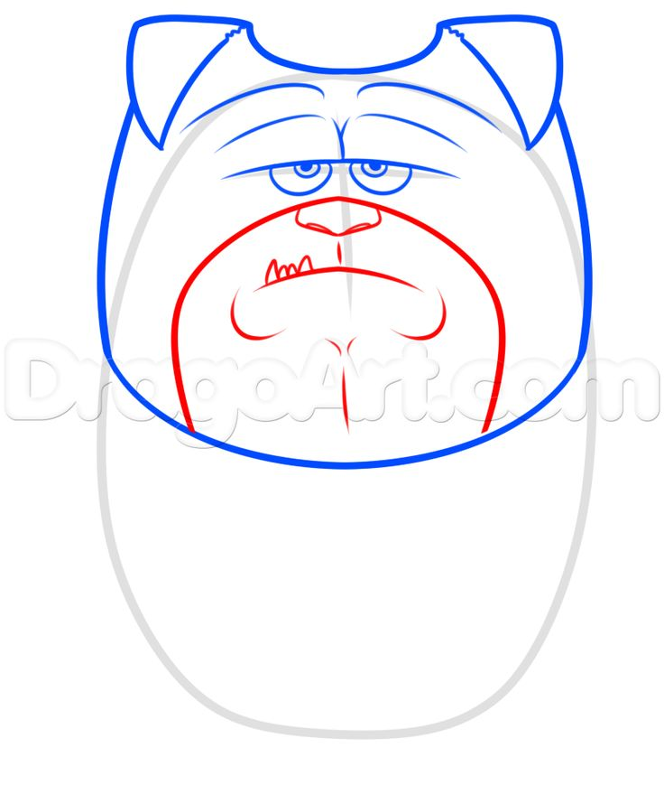 How to Draw Mel From The Secret Life of Pets, Step by Step ...