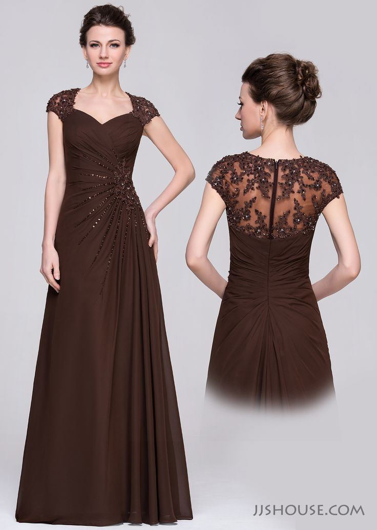 The perfect combination of classic breathtaking style and modern dramatic flare! #JJSHOUSE #motherdress #floorlength