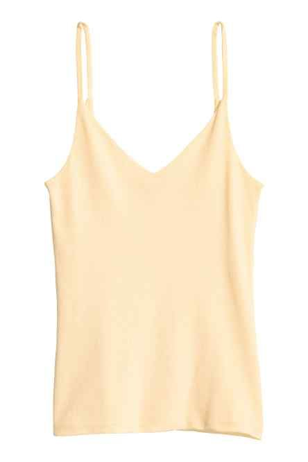 Jersey strappy top
