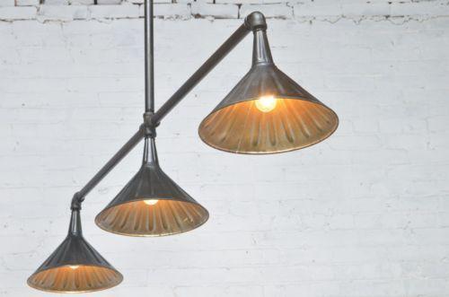 Antique Industrial Style LightingKitchen IslandPool