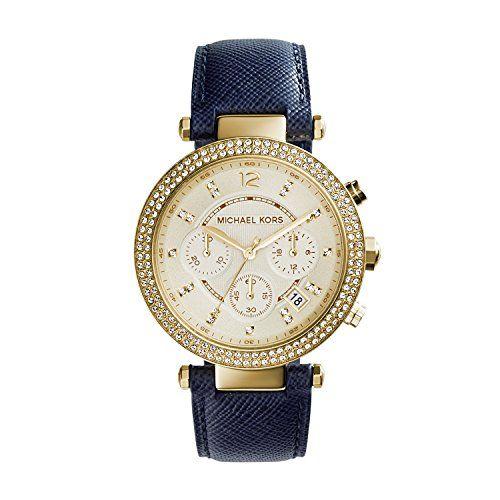 Michael Kors Women's Parker Blue Watch MK2280 Michael Kors https://www.amazon.com/dp/B00BCO38C0/ref=cm_sw_r_pi_dp_x_92SAybN21Q1V9