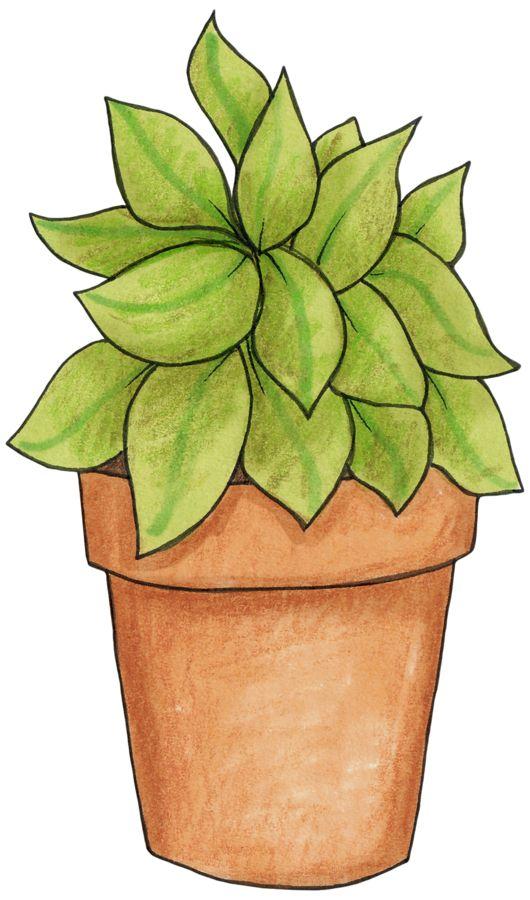 188 best images about CLIP ART - POTTED PLANTS - CLIP ART ...
