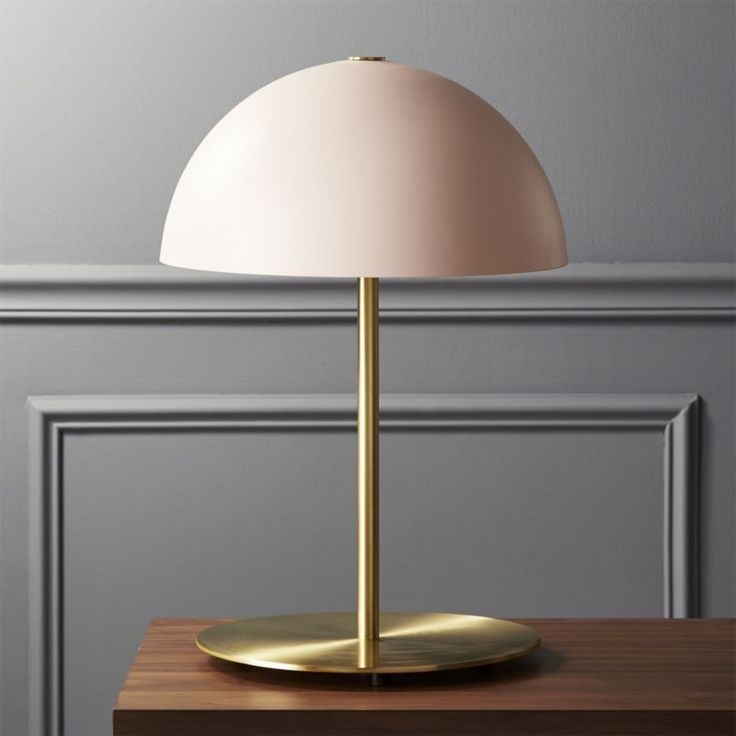 Free Shipping.  Shop Hanna Pink Table Lamp.   Casting a classic dome shape in new light, this pink table lamp is an exclusive design by Mermelada Estudio.  Opaque shade attaches to iron pole with a single decorative screw.  Learn about  on our blog. #Lamps