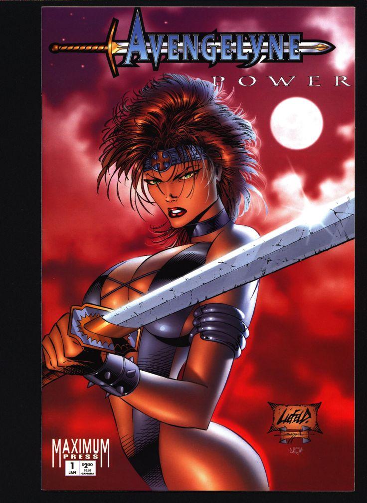 Rob Liefeld's Avengelyne: Power #1 Red cover Robert Napton, John Stinsman Sexy Pin-Up Atlantis Fantasy Heroine