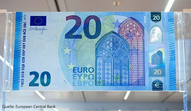 Neuer 20-Euro-Schein - Volksbanken Raiffeisenbanken