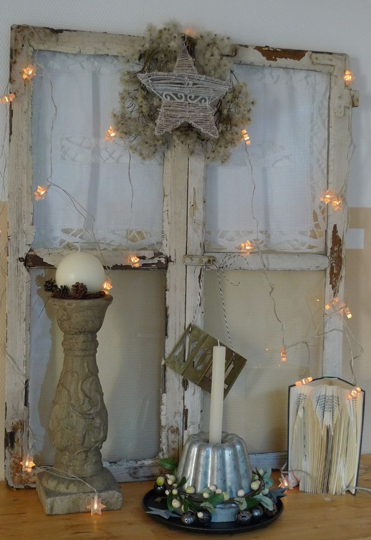 shabby fenster weihnachtlich winterdeko pinterest. Black Bedroom Furniture Sets. Home Design Ideas