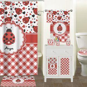 Ladybug Ladybug Shower Curtain Hooks Set