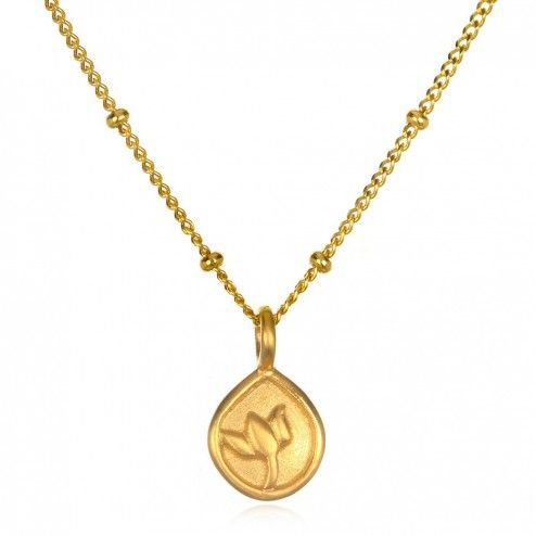 Satya Gold Unfolding Consciousness Lotus Necklace