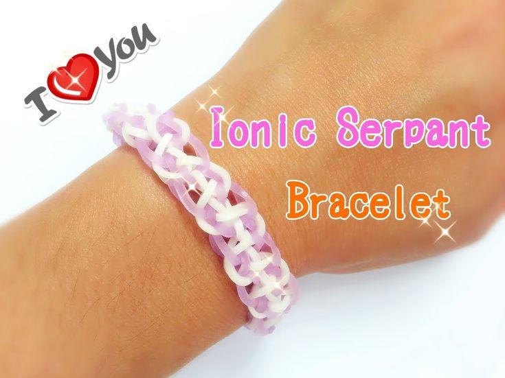 Ionic Serpant Rainbow Loom Monster Tail Bracelet Tutorial ~ How To