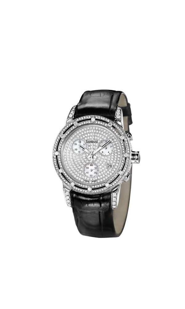 D.Side diamonds full pavé watch