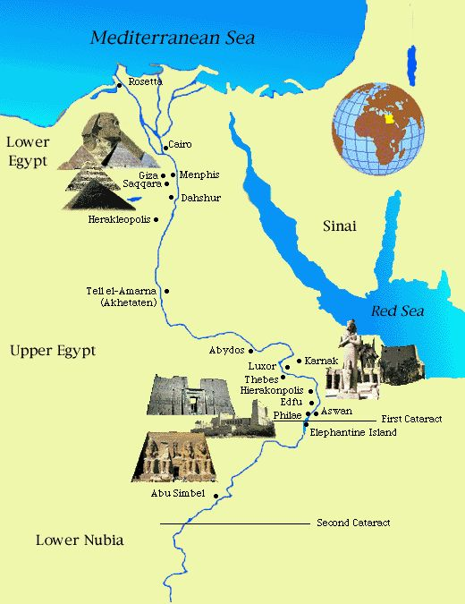 Ancient Egypt Facts: Ancient Egypt Maps for Kids and Students