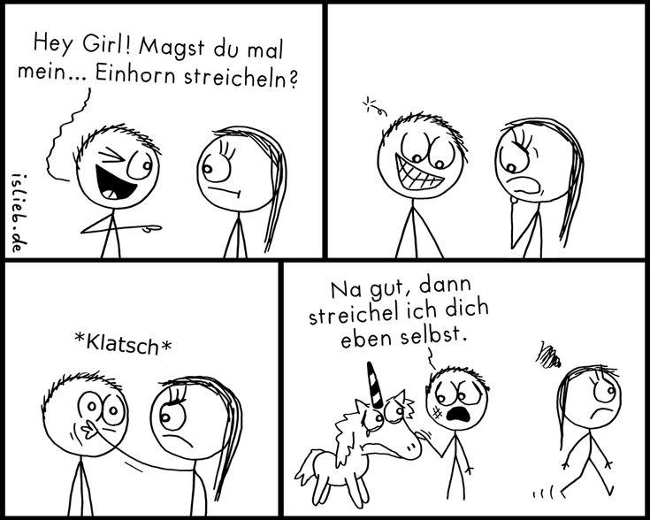 Streicheleinhorn | #flirten #einhorn #streicheln #islieb