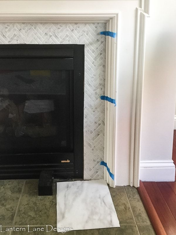 Fireplace Makeover Using Peel And Stick Tile Diy Fireplace Makeover Stick On Tiles Peel And Stick Tile