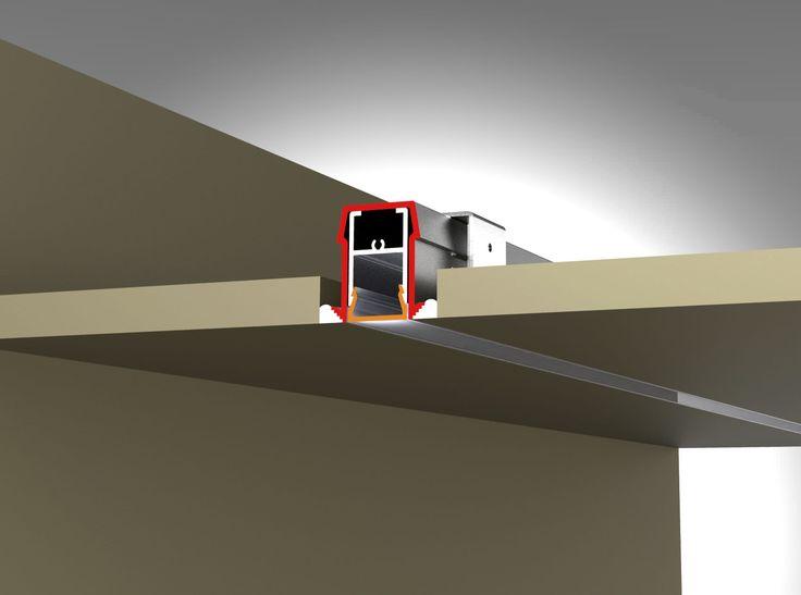 LED recessed strip lighting