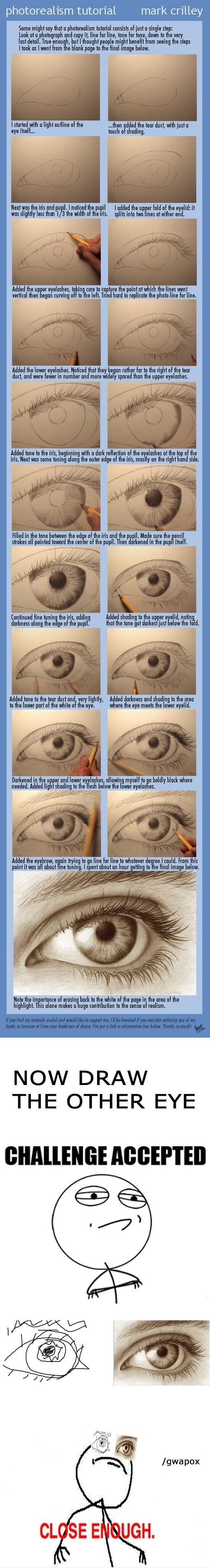 How to draw a eye that looks like a photo, i will have to try this on e day