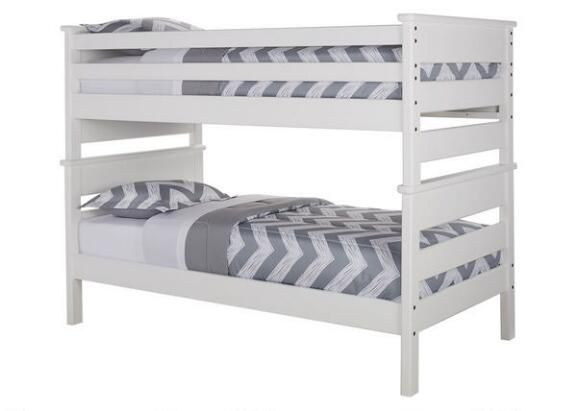 Catalina White Twin Bunk Bed