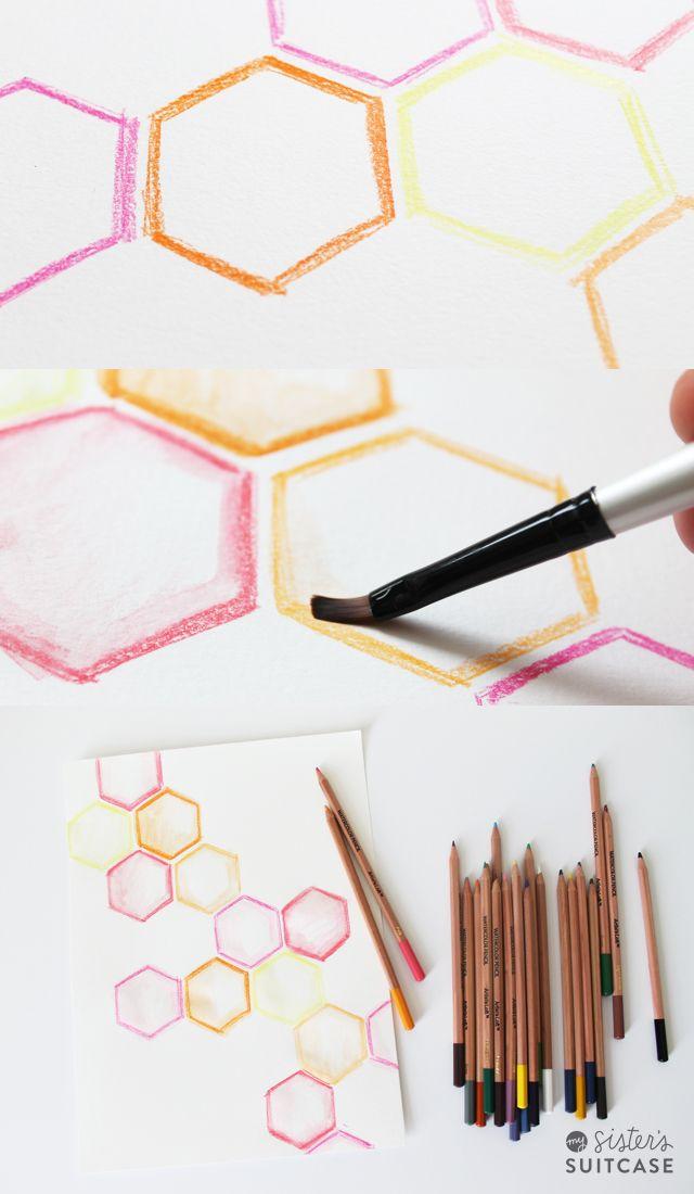 watercolor pencil blending