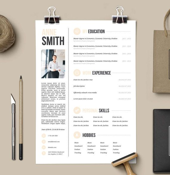 34 best CV images on Pinterest Resume design, Cv template and - hobbies in resume