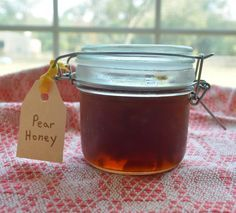 Pear Honey: crockpot recipe