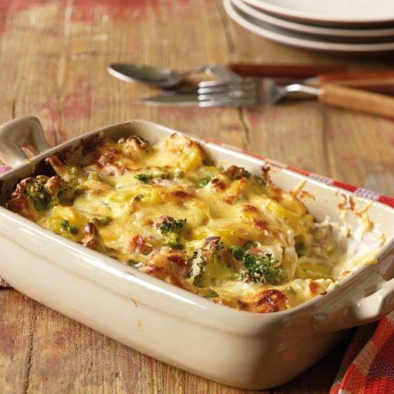 ESSEN & TRINKEN - Broccoli-Kartoffel-Käse-Auflauf Rezept