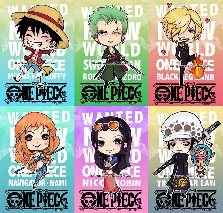 One Piece Chibis New World By StarMasayume