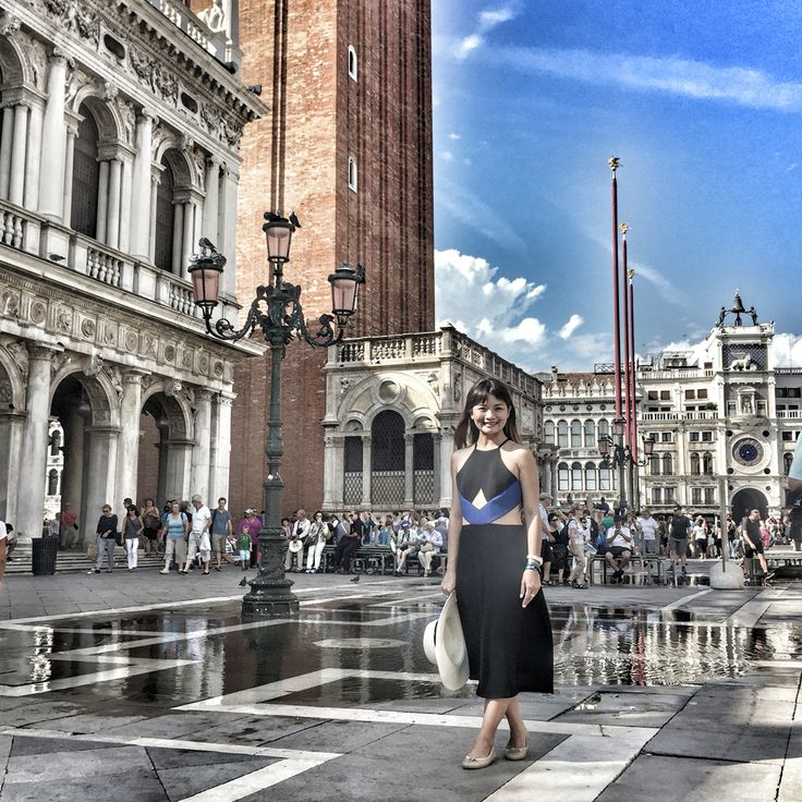 Jumpsuit: peggy hartanto Location: st marco square Venice Photography idea