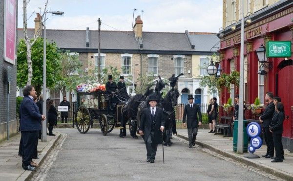 """EastEnders bosses have promised viewers """"an emotional day"""" when Albert Square says a final farewell to Peggy Mitchell. The Walford stalwart, who had been played by Dame Barbara Windsor since 1994, took her own life after being diagnosed with"""