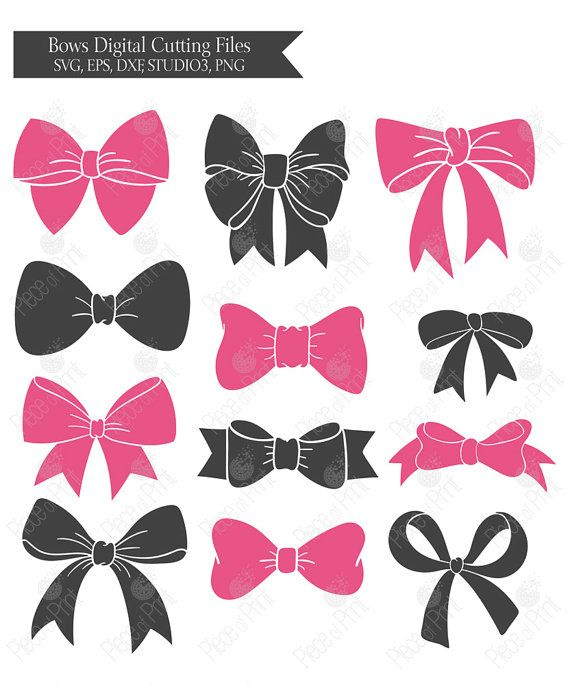 Bow #svg cut files by pieceofprint #bow #Silhouette