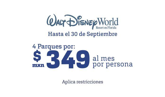 Reserva Paquetes a Disney y paga tus viajes a meses sin intereses. Disfruta también de vuelos y hoteles a Disneyland a los mejores precios. Consulta por nuestros paquetes todo incluido y aprovecha más promociones en BestDay.com