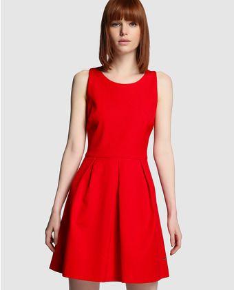 Vestido de mujer Tintoretto rojo de piqué