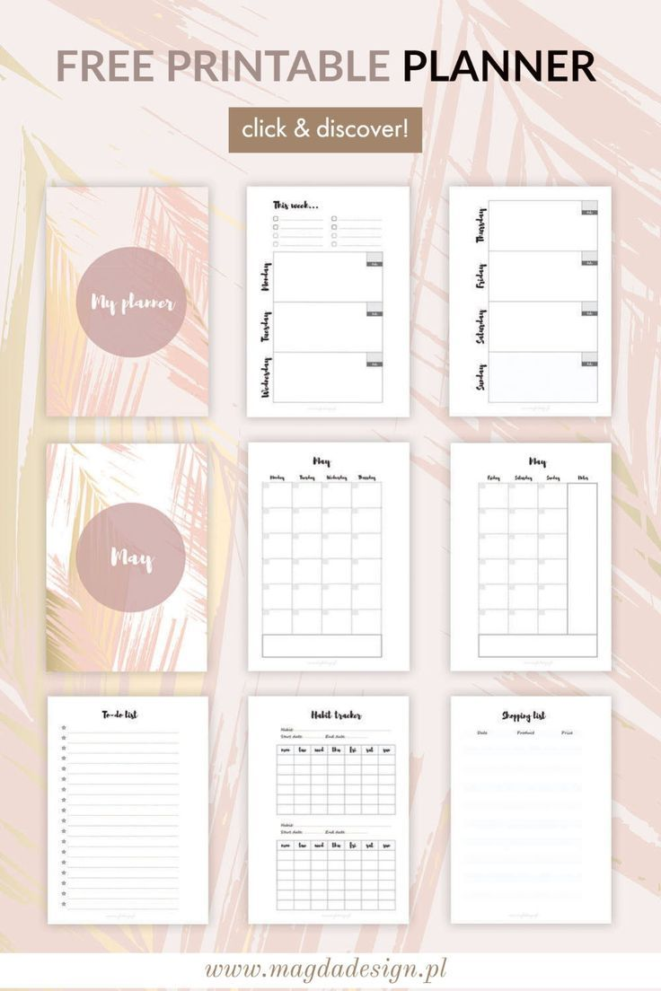 Golden Blush Printable Weekly Planner A5 Magda Design Printable Planners And Resources For Graphic Designers In 2020 Printable Planner Planner Printables Free Planner Inserts Printable