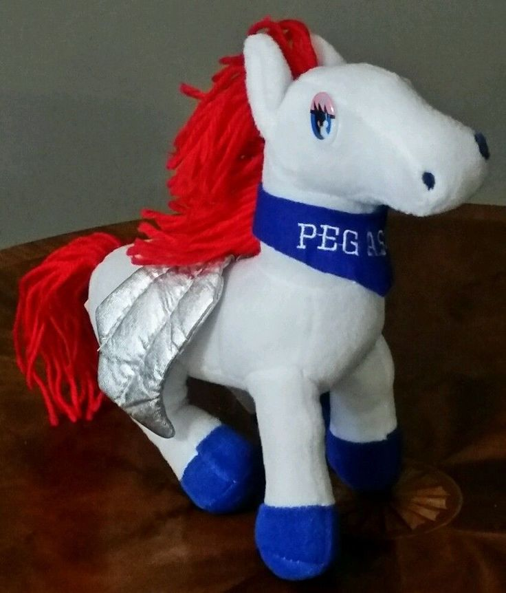 Plush Appeal LLC Home of Mardi Gras Plush Red White Blue PEGASUS Stuffed Animal  #PlushAppealLLC