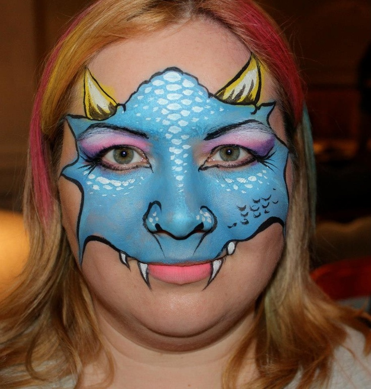Face Painting - Another dragon mask!