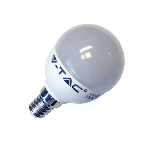 Λάμπα led σφαιρική Ε14 P45 6w v-tac 220v 470 lumen φυσικό λευκό 4500Κ