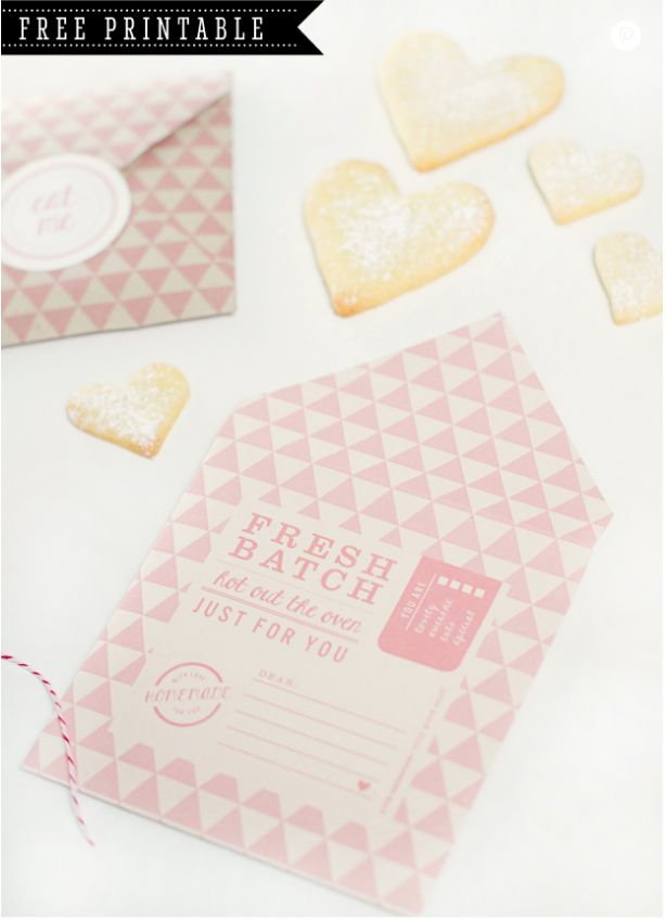 FREE printable DIY Cookie Pocket Envelope #freeprintables #freeprintable