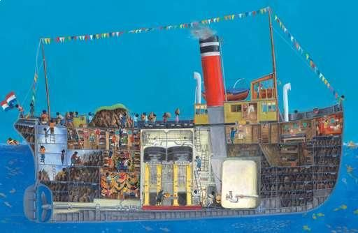 Sinterklaas boek - Stoomboot Charlotte Dematons