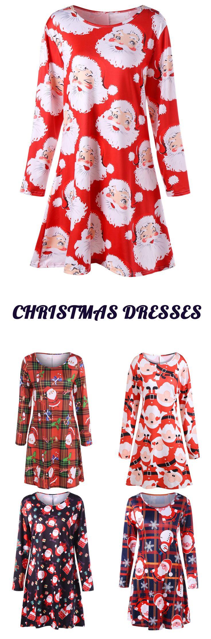 Up to 80% off,Plus Size Santa Claus Print Mini Swing Dress | rosewholesale,rosewholesale.com,rosewholesale plus size,rosewholesale dress plus size,rosewholesale dress,christmas dress,santa claus dress,plus size,dress,christmas | #rosewholesale #dress #christmas #plussize