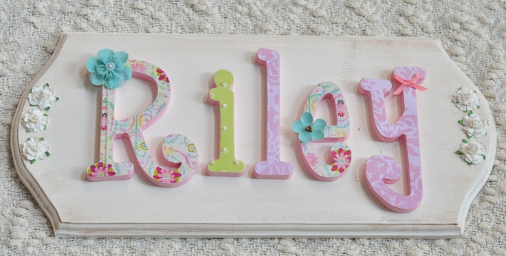 Pin by kylie mahony on baby name letters pinterest for Baby name letters decoration
