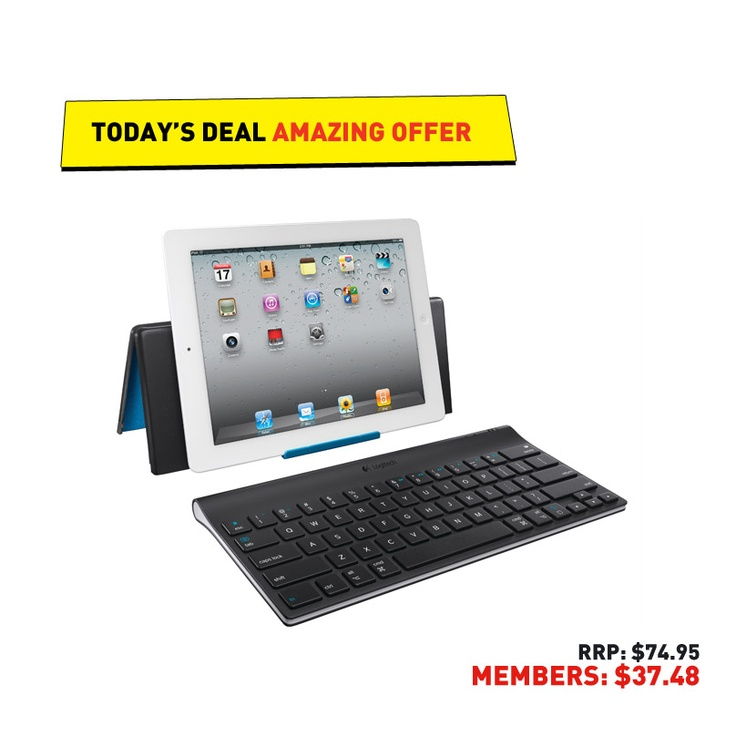 #50deals Day 37 - 19th June. Connect today's #Logitech keyboard to your iPad, iPhone or iPod Touch via Bluetooth. iWin!