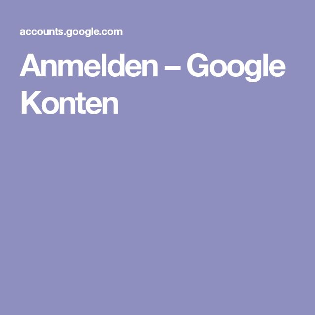 Anmelden – Google Konten