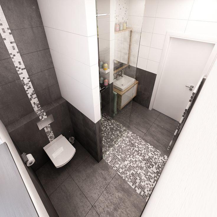 V koupelně přístupné z ložnice majitelů se nachází wc, sprchový kout a umyvadlo se skříňkou.