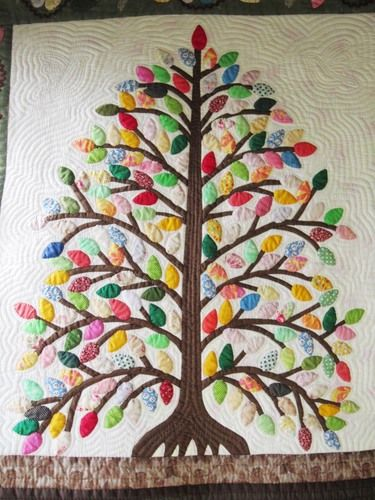 Tree quilt from a Japanese quilting circle.