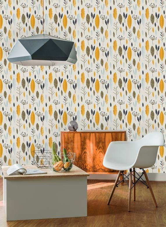 Yeung Removable Autumn Leave 6 25 L X 25 W Peel And Stick Wallpaper Roll Peel And Stick Wallpaper Removable Wallpaper Wallpaper Roll