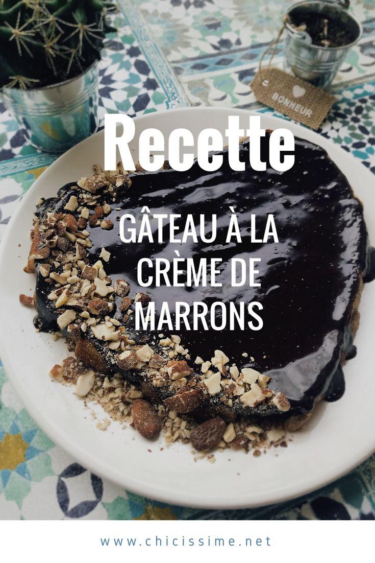 Recette facile du gâteau à la crème de marrons #recette #recipe #cake