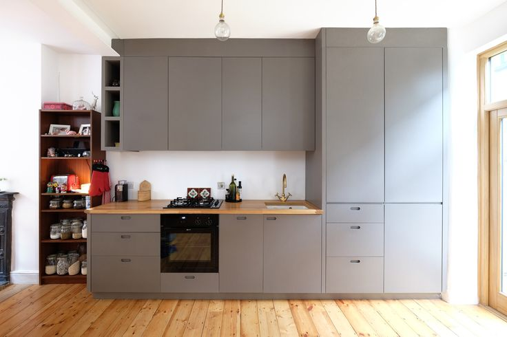 The kitchen was handmade by Maxwell Pinborough Ltd., cabinet makers based in London Fields.