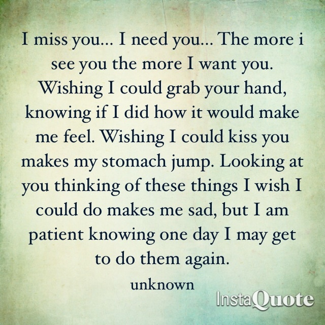 I Love You I Need You I Want You Please Come Back To Me I Want