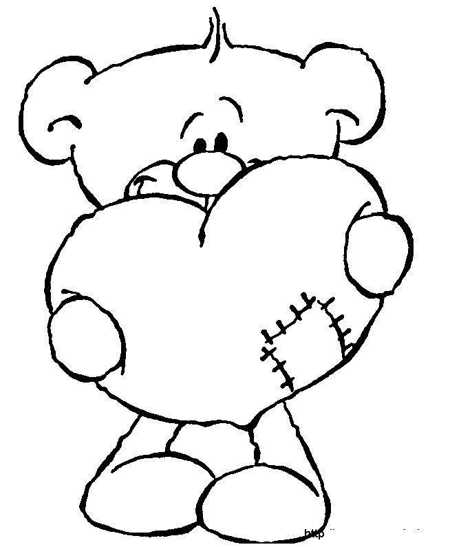 Dia De San Valentin Imagenes Para Colorear Ideas Del Dia De San Valentin Dibujos De San Valentin Dibujos De Amor Oso Para Pintar