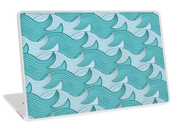 California Surf Wave Pattern Illustration by Gordon White | Heather Grey California Surf Macbook Air 11 Laptop Skin Available @redbubble --------------------------- #redbubble #stickers #california #losangeles #la #surf #wave #cute #adorable #pattern #laptop #skin #laptopskin #macbook